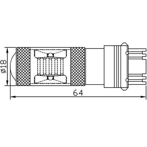LED лампа тормоза/заднего хода UP-7G-3156WB-30W (белая, 12-24 В) Превью 2