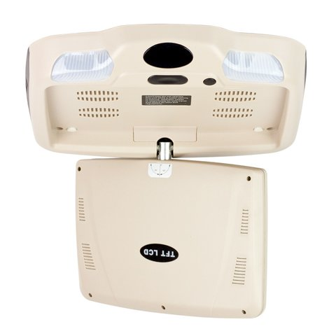 """9"""" Car Flip Down Monitor with DVD Player (Beige) Preview 3"""