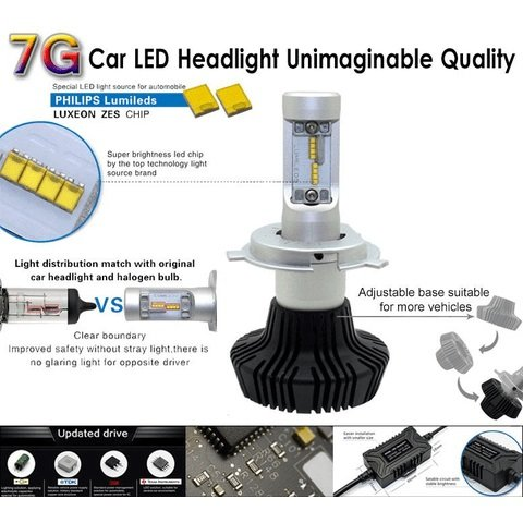 Набір світлодіодного головного світла UP-7HL-9012W-4000Lm (HIR2, 4000 лм, холодний білий) Прев'ю 3