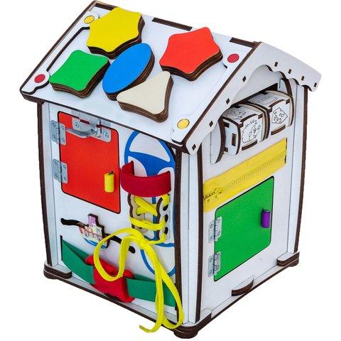 Бизиборд GoodPlay Развивающий домик с подсветкой (24×24×30) Превью 4