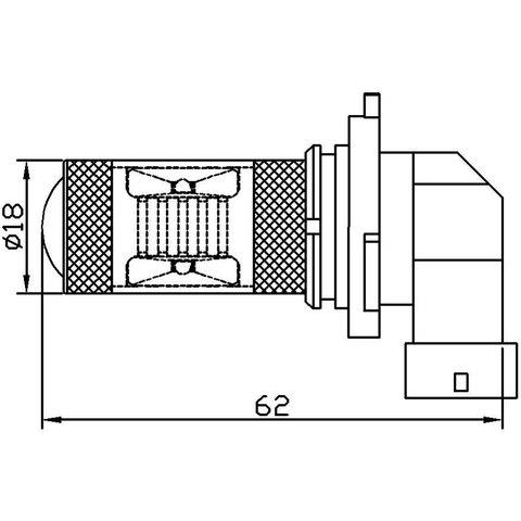 LED Fog Light UP-7G-9006WB(HB4)-30W (white, 12-24 V) Preview 1